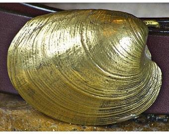 Quahog Shell Belt Buckle