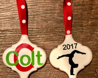 Personalized Tile Ornaments