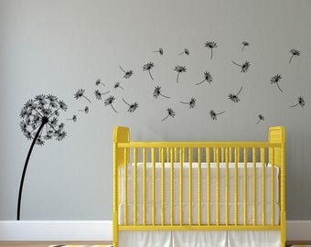 "Dandelion ""The Glinda"" Vinyl Wall Decal with 27 DIY floating seeds K700"