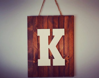 Wood Letter Wall Sign
