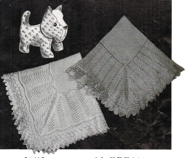 Cute \'n\' Cozy Set of 2 Baby Shawl Patterns PDF / Set of 2 Monarch ...