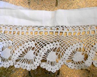 Victorian White Crocheted Trim