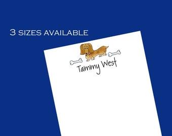 Personalized Dachshund Dog Notepads // Dachshund gift // Gift for dog lover ~ 3 sizes