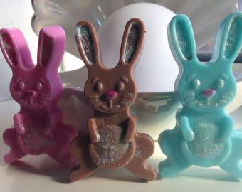 Handcrafted soap rabbit/bunny x 3 soaps