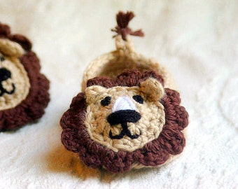 CROCHET PATTERN # 103 - Lion House Slippers Crochet Pattern - Instant Download - PDF - baby shoe crochet pattern - baby sizes
