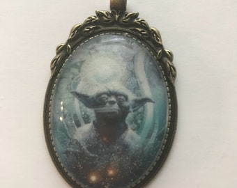 Yoda Glitter Necklace