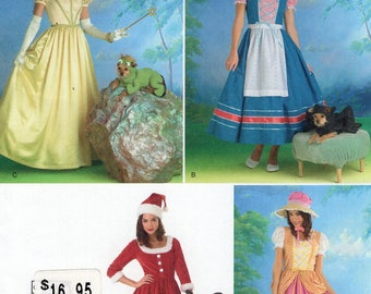 Free Usa Shipping Simplicity Sewing Pattern 2827 Ladies Misses Costume Dog Santa Bo Peep 6/12 14/22 plus Bust 30 31 32 34 36 38 40 42 44 New