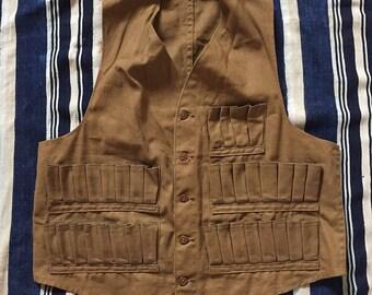 Vintage 1930s Unbranded Hunting Vest Mens Size Small