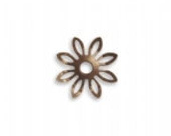 Vintaj 15mm Trillium Petals (6)