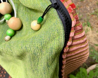 "folding floor loom Bag to fit  the Saori Piccolo loom ""pistachio cremecicle  "": Saorisantacruz"