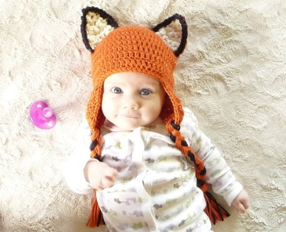 Ear Flap Baby Hat CROCHET PATTERN Hat with Ear Flaps Baby Boy Hat ...