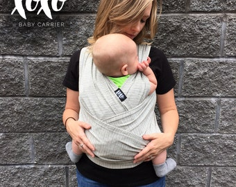 xoxo buckle wrap baby carrier - grayscale (made with repreve)