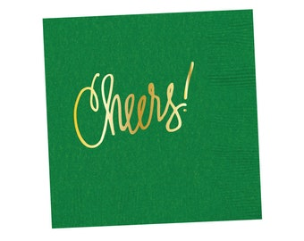 Napkins | Cheers - Kelly Green (in stock)