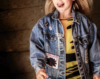 Custom Denim Jacket | Personalised Band Jacket | One of a Kind | Unique Kids Clothing | Customized Gift | Upcycled Jean Jacket | Music Gift