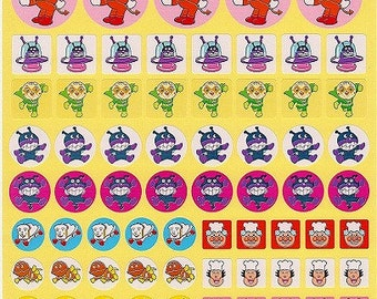 Anpanman Character Stickers - Large Sheet - Reward Stickers Style 4 - Reference A6493