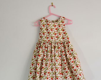 Tea party dress red floral