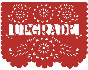 Add 2 more papel picado banners to your previously placed order in the same design and colors