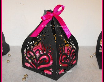 """Boxes for sweets """"Eastern Tulip"""" pattern 1 (kit for 50 boxes to assemble)"""
