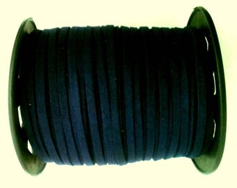 Navy Blue - 3 m - colored suede cord - 3 mm