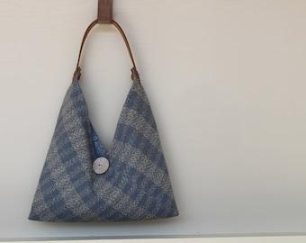 Handwoven Plaid Bag