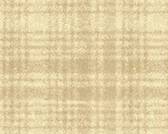 Light Taupe Windowpane Plaid Flannel Fabric-Woolies Flannel-Maywood-Taupe Plaid Fabric-Tartan Flannel-Plaid Quilt Flannel-Home Decor Flannel