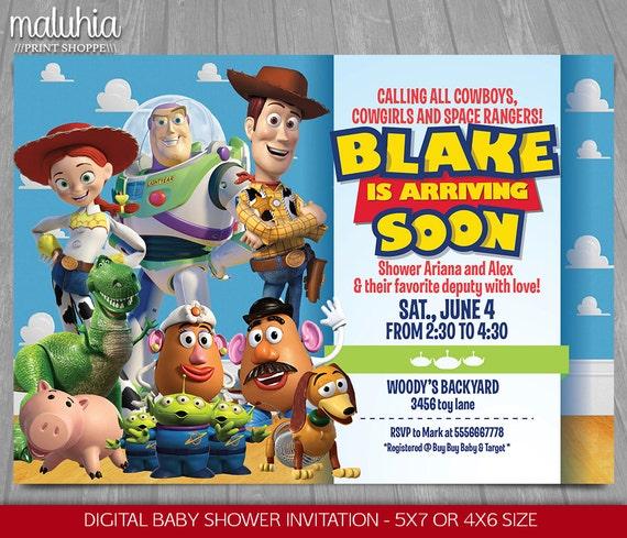 Toy Story Baby Shower Invitation Toy Story Invite Toy