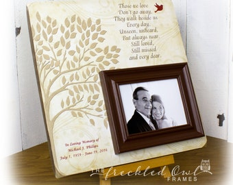 Memorial Picture Frame, Memorial Gifts, In Memory of Picture Frame, Funeral Gift, Gift for Wake, Poem for the Loss of a Loved One 16 X 16