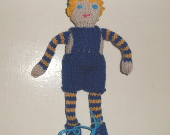 CHARLIE BOY knitted doll.