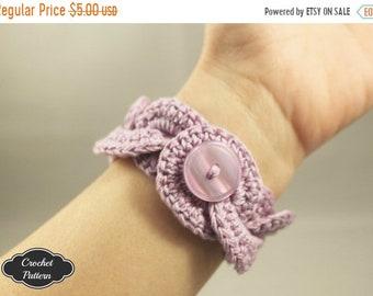 ON SALE CROCHET Pattern - Crochet Bracelet Infinity Link Cuff, Crochet Bracelet, Crochet Cuff Pattern, Crochet Jewelry Pattern