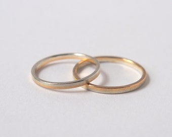 Gold and Silver Layered Stackable Rings