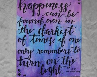 """Harry Potter and the Prisoner of Azkaban 8 x 10"""" Hand-Painted Canvas"""