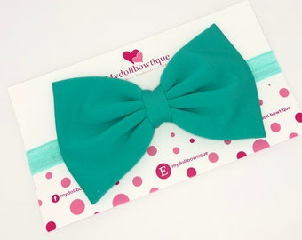 Turquoise headbands, bows, babies, newborn, hair accessories