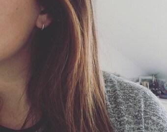 Hoop Sterling Silver Earrings 11mm diametre