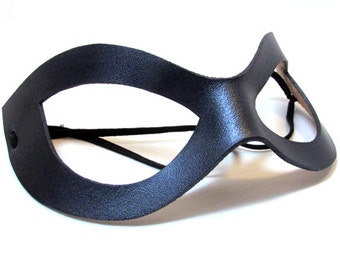 Superhero Mask / Harley Leather Mask / Cosplay Mask / Gunmetal Leather Mask / Harley Quinn / Costume / Harley Mask / Ms Marvel / Mask