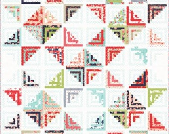 "Smitten Sweet Escape Quilt Kit designed by Bonnie & Camille for Moda Fabrics, size 80"" x 80"""