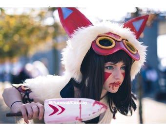 Princess Mononoke Cosplay Mask & Knife