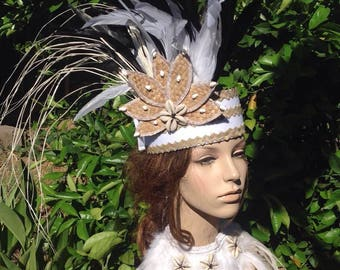 Simple Authentic Fala/Lauhala Tahitian & Cook Islands Headpiece. Perfect For Girls Of All Ages.