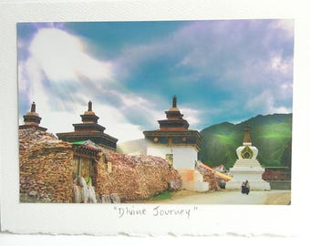TIBET (sacred wall) / Original Photo Greeting Card / Fundraising / Fine Art Photography