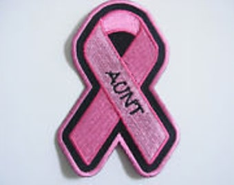 Pink Ribbon Breast Cancer Awareness Patch  AUNT