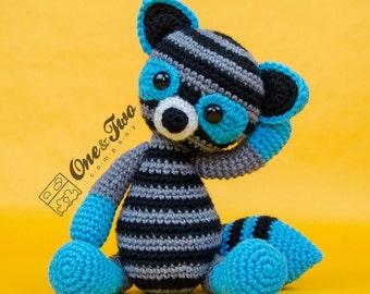 Rascal the Raccoon Amigurumi - PDF Crochet Pattern - Instant Download - Amigurumi crochet Cuddy Stuff Plush