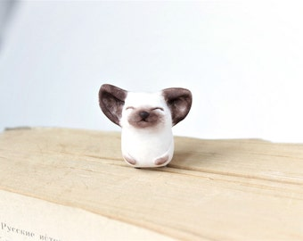 Cute cat planner clip  Cute Tiny Siamese kitten Unusual animal bookmarks for your planner adorable Cat paper clip