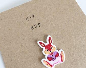Hip Hop - Rabbit Easter Card - Celebration