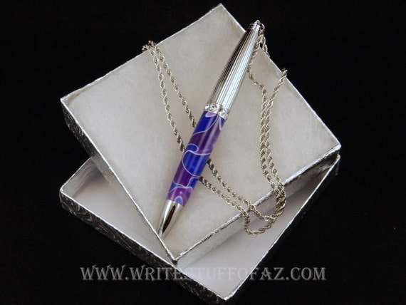 Mother's Day Pen Necklace in Purple & Lavender