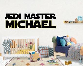 Jedi Master Star Wars / Wall Vinyl Decal Sticker / Nursery Baby Toddler Kid Children Room / Decor Decoration / Gift / Personalized Custom