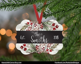 Mr & Mrs Ornament, Our First Christmas, 2018 Ornament, Family Ornament, Custom Ornament, Wedding Gift, Benelux Ornament, Gift for Couple