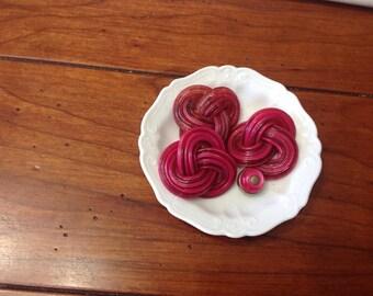 Fuschia buttons | Etsy
