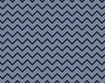 Blue Chevron fabric from Camelot Fabrics