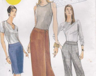 Vogue Sewing Pattern - No 9856 Skirt, Pants  Size 12-16 Factory folded and complete