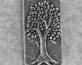 Green Girl Studios Grow Strong Pewter Bead