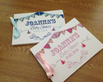 Handmade Personalised Guest Book Baby Shower New Baby GB01